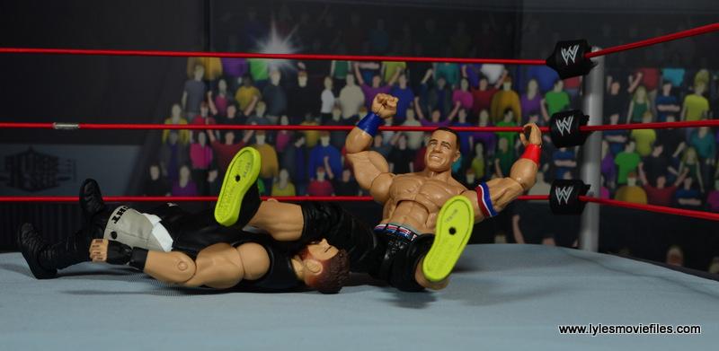 WWE Elite 50 John Cena figure review -legdrop to Kevin Owens