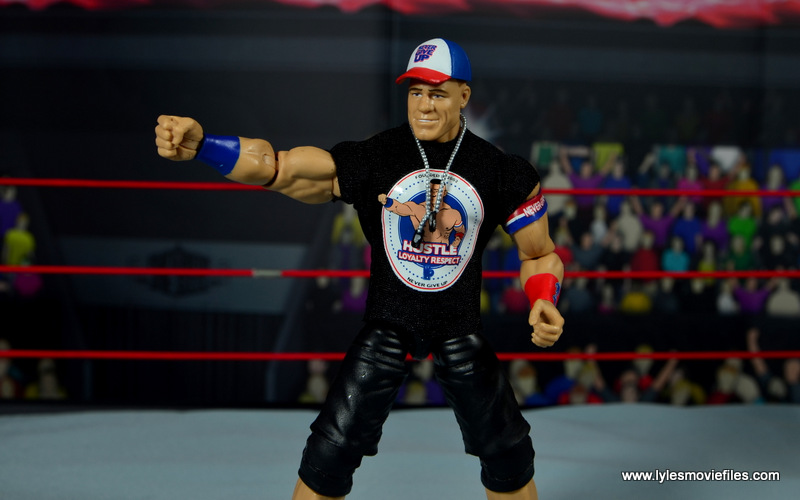 WWE Elite 50 John Cena figure review -shirt pose