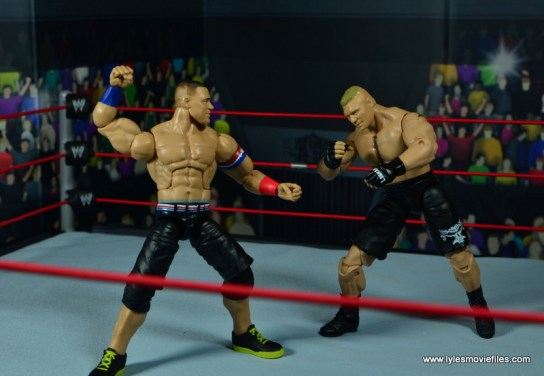 WWE Elite 50 John Cena figure review -vs Brock Lesnar