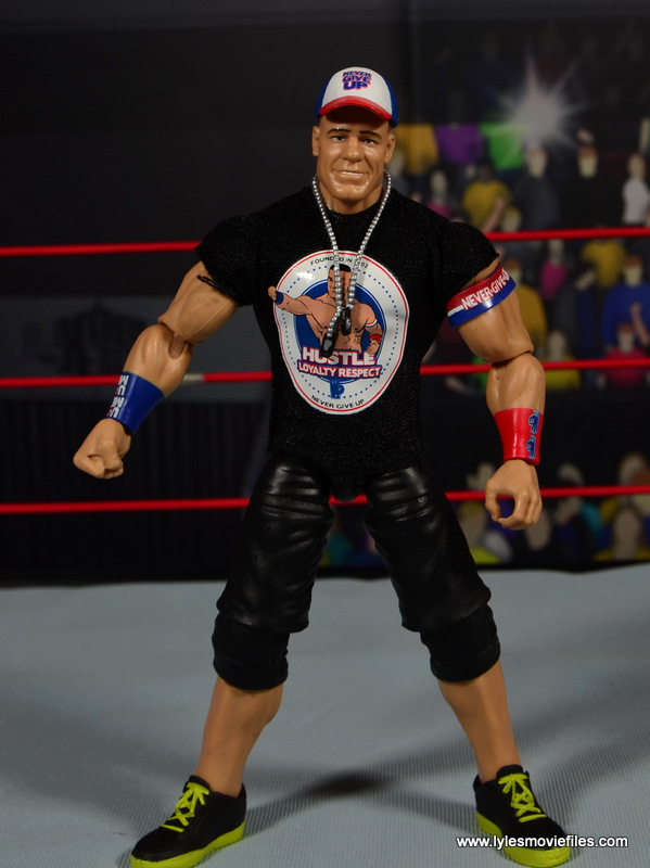 WWE Elite 50 John Cena figure review -with shirt on