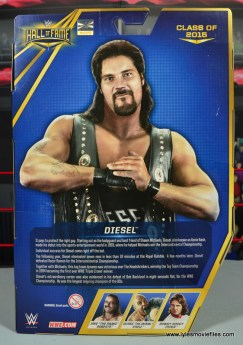WWE Elite Hall of Fame Diesel figure review -package rear