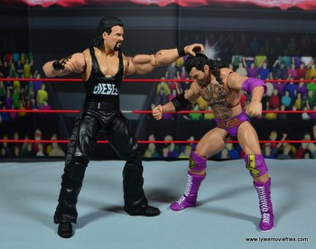 WWE Elite Hall of Fame Diesel figure review -punching Razor Ramon