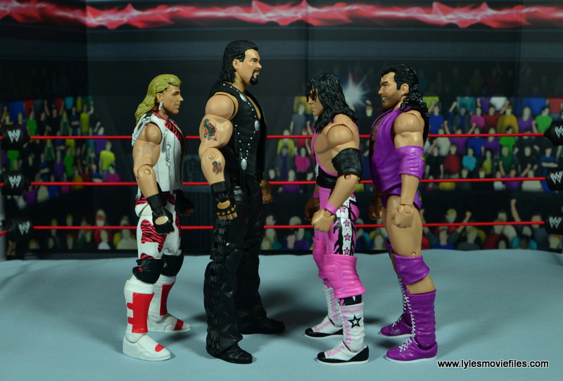 WWE Elite Hall of Fame Diesel figure review -scale with Shawn Michaels, Bret Hart and Razor Ramon