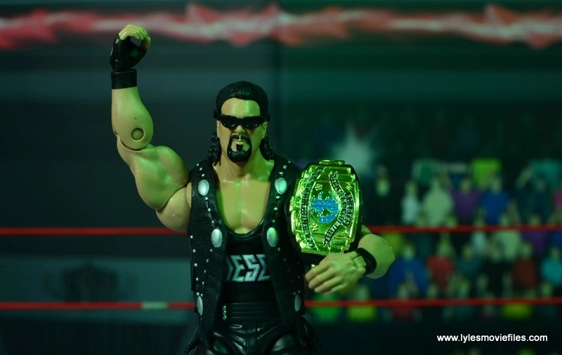 WWE Elite Hall of Fame Diesel figure review -with vest, sunglasses and Intercontinental title