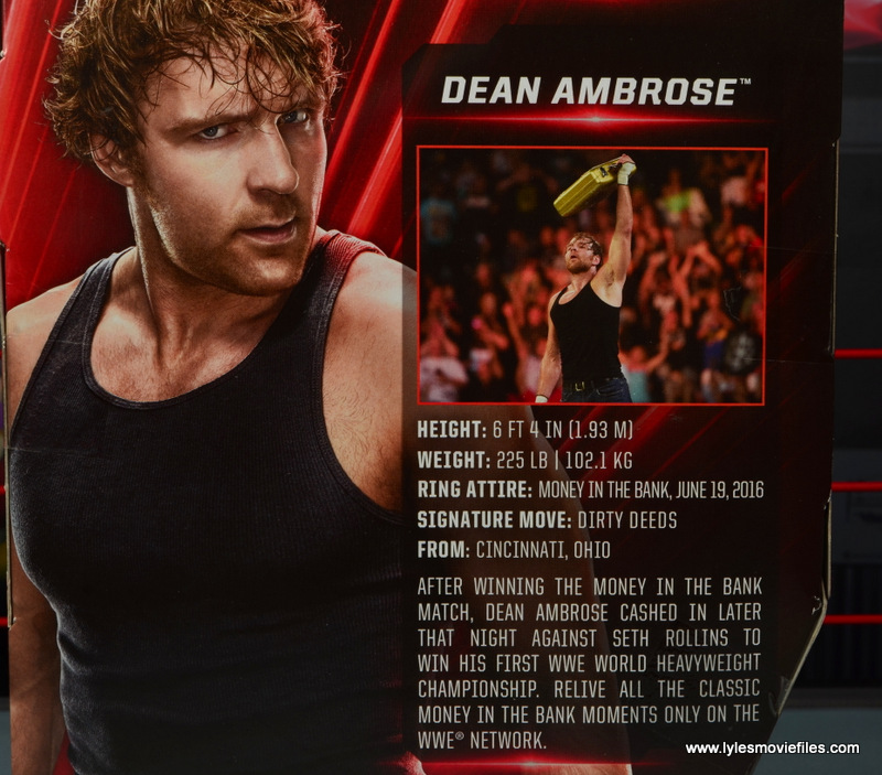 wwe network spotlight dean ambrose figure review -bio