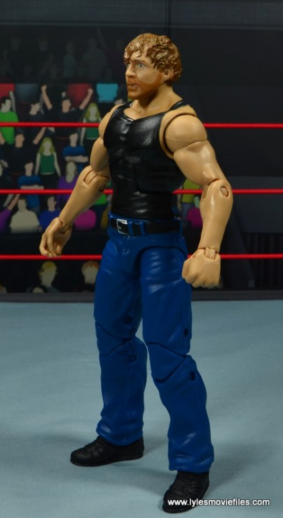wwe network spotlight dean ambrose figure review -left side