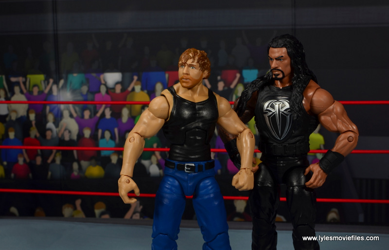 wwe network spotlight dean ambrose figure review -side to side with roman reigns