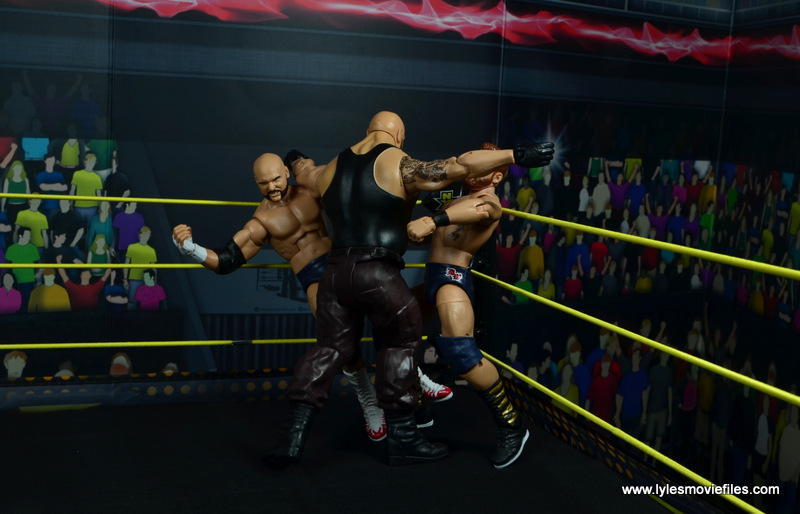 wwe nxt basic akam figure review -corner splash to the revival
