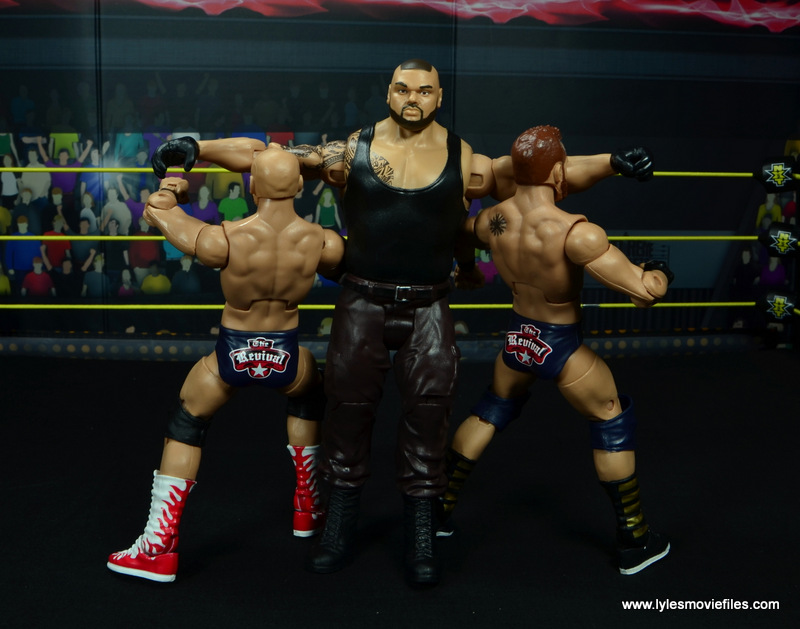 wwe nxt basic akam figure review -double clothesline to the revival
