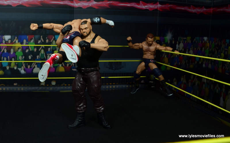 wwe nxt basic akam figure review -lifting up dawson