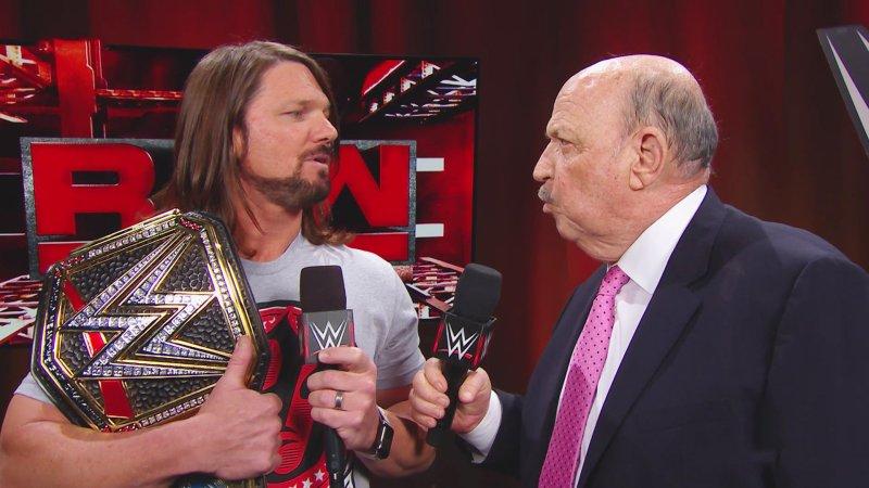 RAW 25 AJ Styles and Mean Gene
