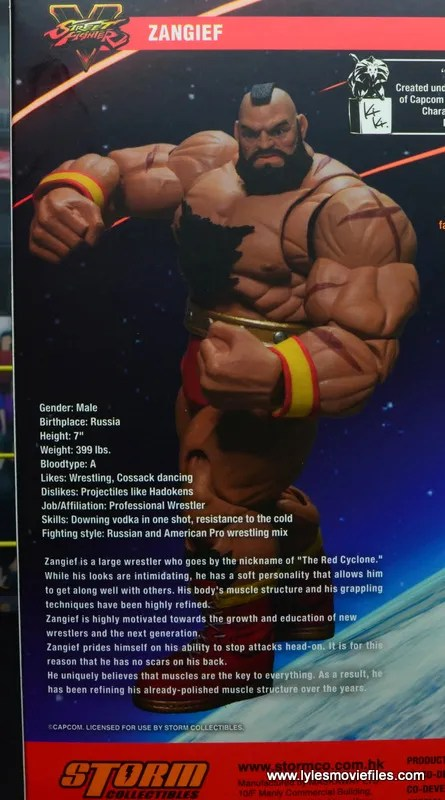 Storm Collectibles Street Fighter V Zangief figure review -bio