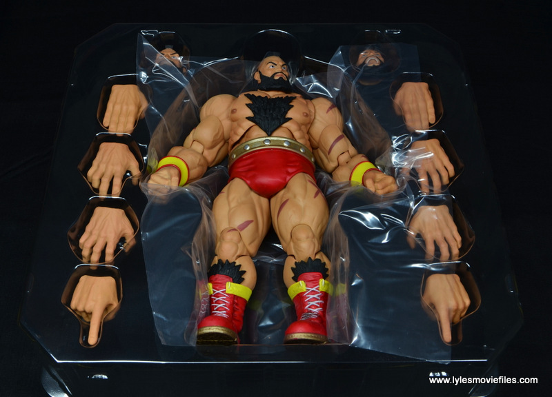 Storm Collectibles Street Fighter V Zangief figure review - in tray