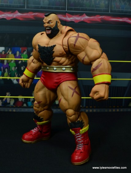 Storm Collectibles Street Fighter V Zangief figure review -left side