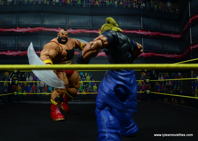 Storm Collectibles Street Fighter V Zangief figure review -red cyclone winding up