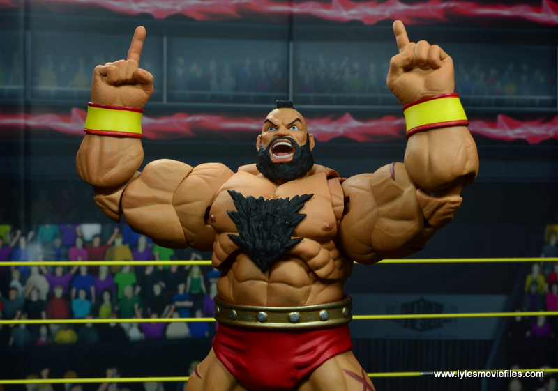 Storm Collectibles Street Fighter V Zangief figure review -taunt pose