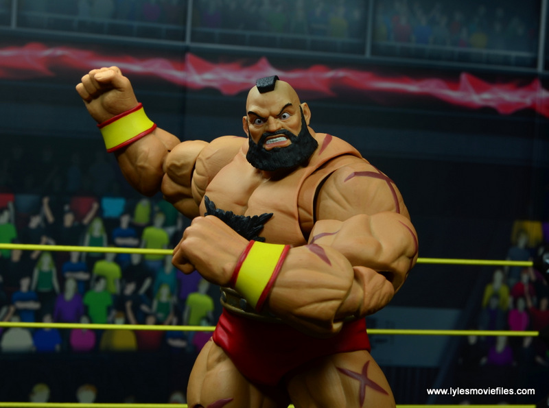 Storm Collectibles Street Fighter V Zangief figure review -victory pose