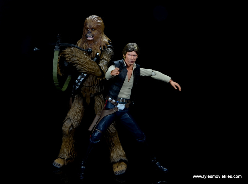 bandai sh figuarts chewbacca figure review - battle ready with han solo
