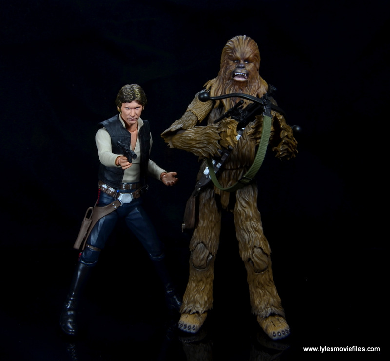 bandai sh figuarts chewbacca figure review -side to side with han solo
