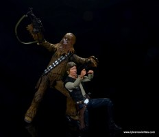 bandai sh figuarts chewbacca figure review - with han solo