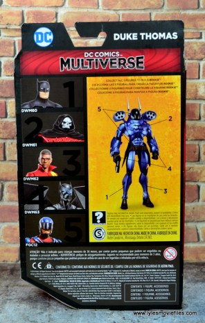 dc multiverse duke thomas figure review - package rear