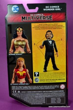 dc multiverse wonder girl figure review - package rear