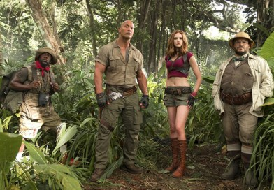 jumanji welcome to the jungle - kevin hart, dwayne johnson, karen gillan, jack black