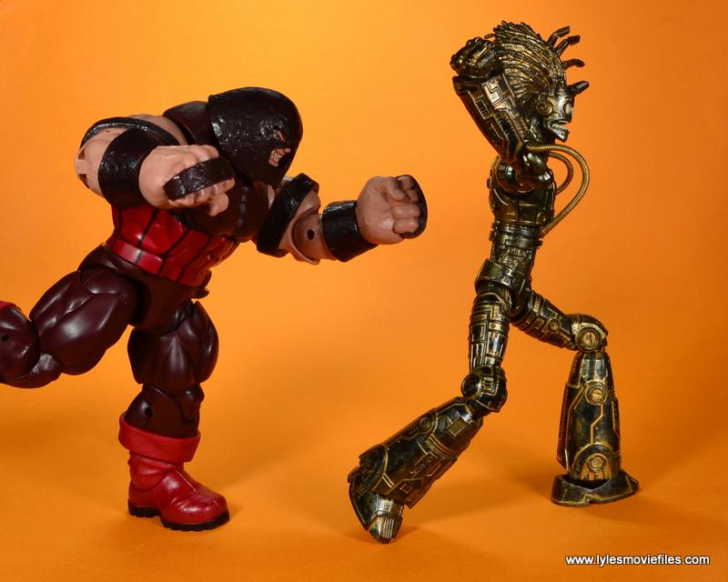 marvel legends baf warlock figure review -running from juggernaut