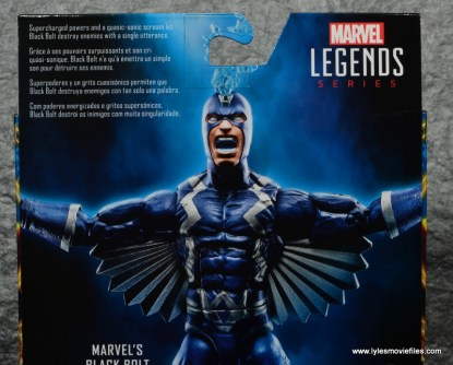 marvel legends black bolt figure review -package bio
