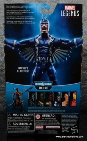 marvel legends black bolt figure review -package rear