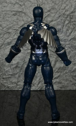 marvel legends black bolt figure review -rear with wings in
