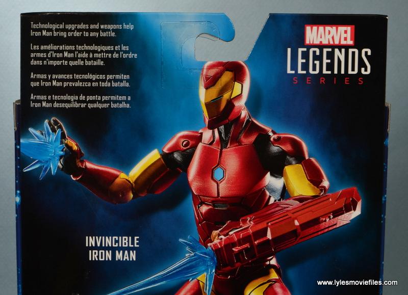 marvel legends invincible iron man figure review -package bio