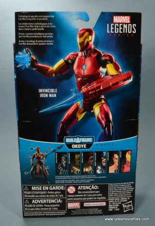 marvel legends invincible iron man figure review -package rear