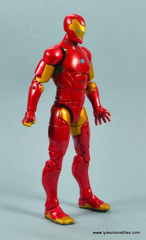 marvel legends invincible iron man figure review - right side ...