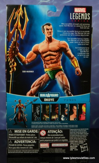 marvel legends sub-mariner figure review -package rear