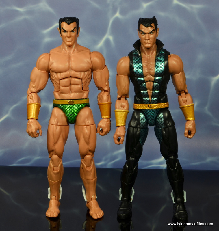 marvel legends sub-mariner figure review - scale with walgreens namor