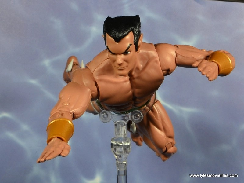 marvel legends sub-mariner figure review -swimming ahead