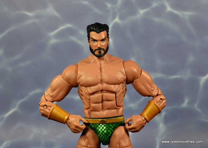 marvel legends sub-mariner figure review -with alternate head