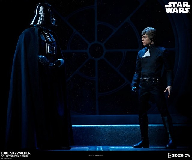 star-wars-luke-skywalker-sixth-scale-figure-sideshow-with vader on the death star