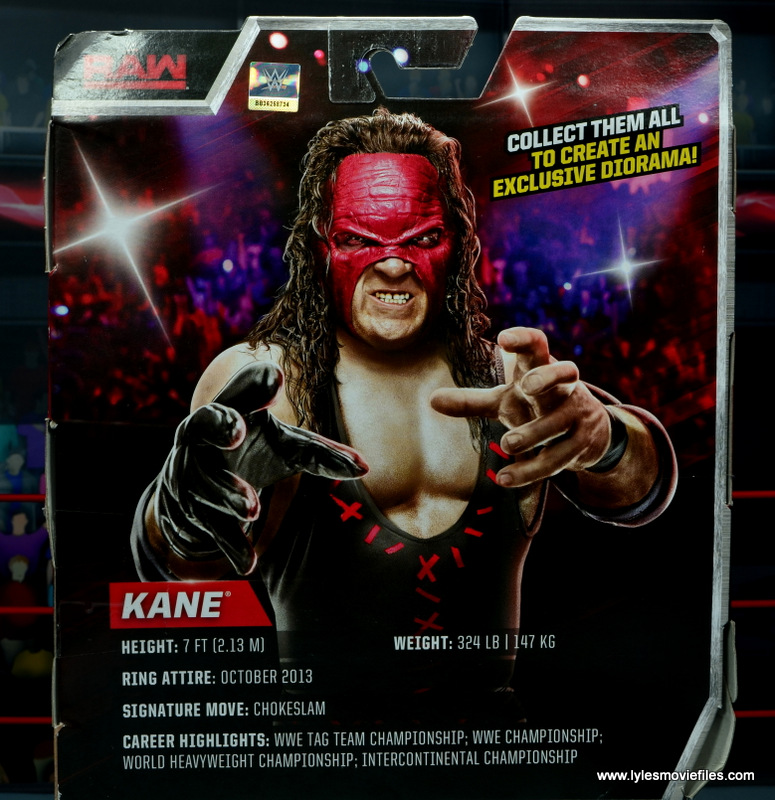 wwe elite 47b kane figure review -package bio