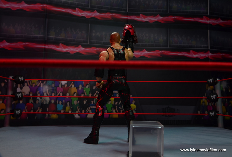 wwe elite 47b kane figure review -raising the mask up