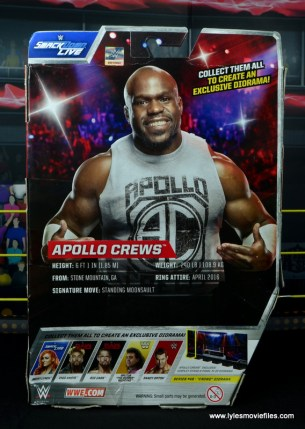 wwe elite 49 apollo crews figure review - package rear