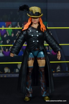 wwe elite 49 becky lynch figure review - front with coat