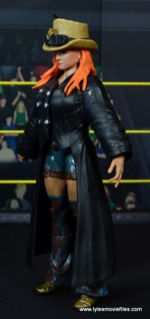 wwe elite 49 becky lynch figure review - left side with coat and hat