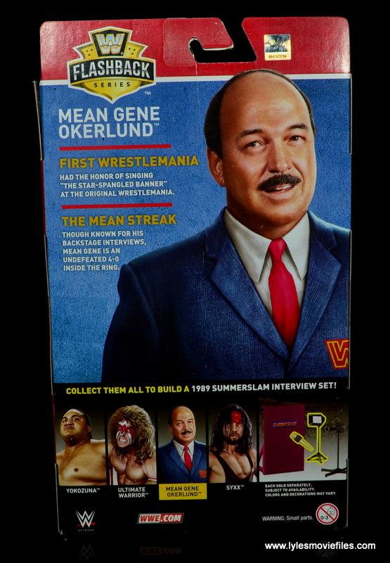 wwe flashback mean gene okerlund figure review - package rear