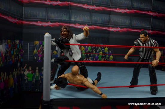 wwe summerslam elite mankind figure review - kneesmash to stone cold