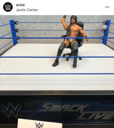 wwe elite jinder mahal with smackdown live ring
