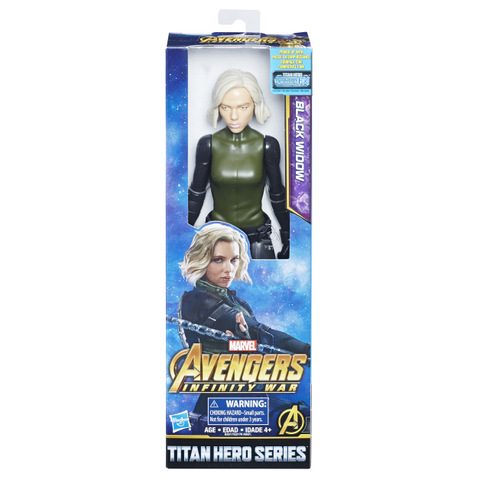 MARVEL AVENGERS INFINITY WAR TITAN HERO 12-INCH Figures (Black Widow) - in pkg