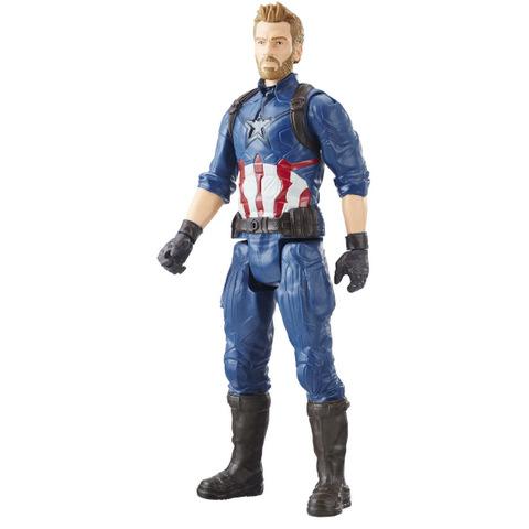 MARVEL AVENGERS INFINITY WAR TITAN HERO 12-INCH Figures (Captain America) - oop