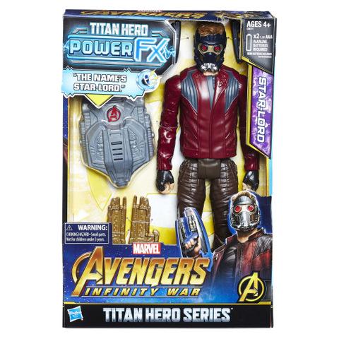 MARVEL AVENGERS INFINITY WAR TITAN HERO 12-INCH POWER FX Figures (Star-Lord) - in pkg